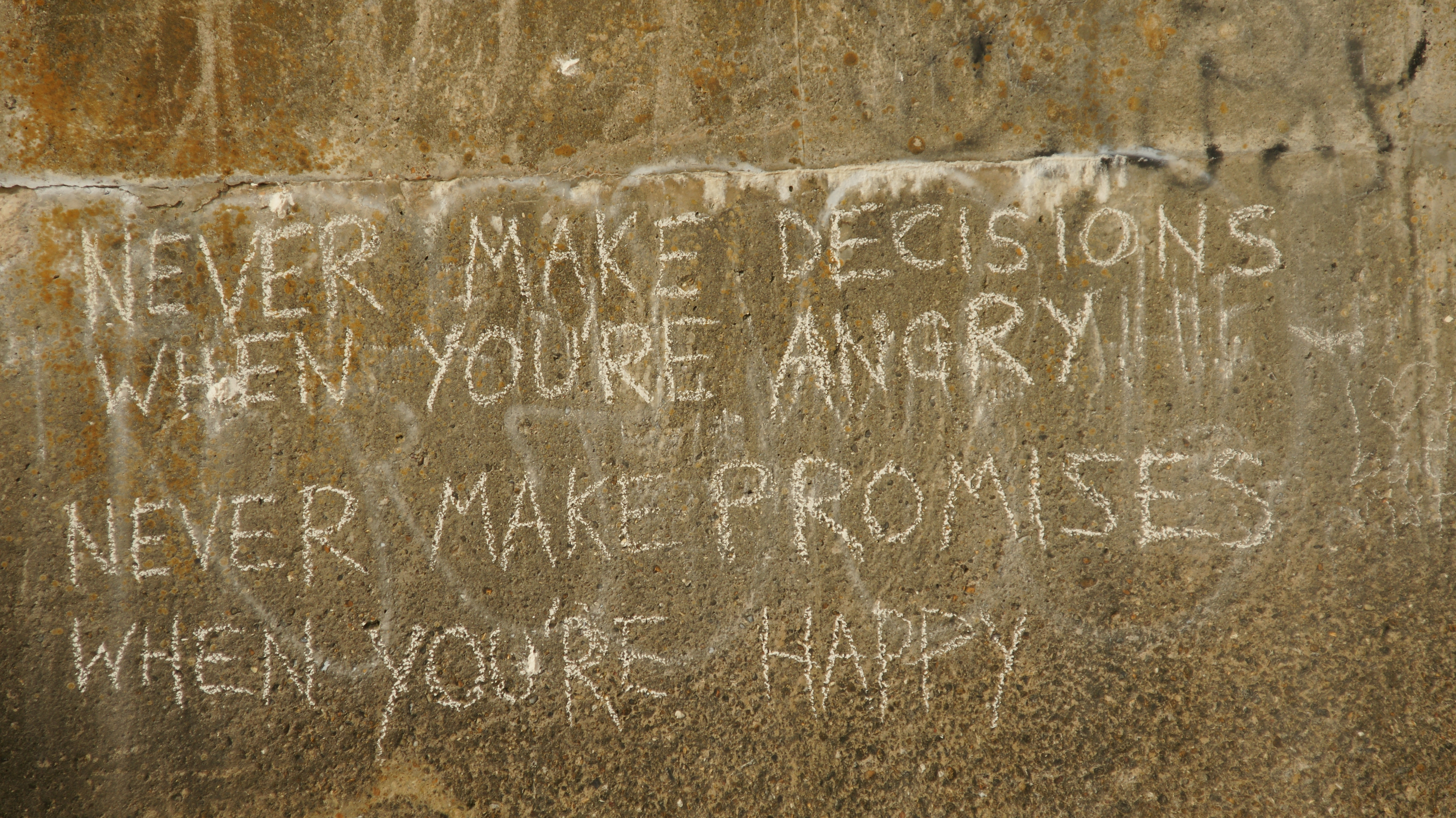 Decisions and Happiness