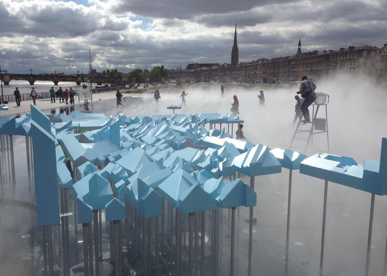 Masterplan models for bastide niel for Miroir d eau bordeaux