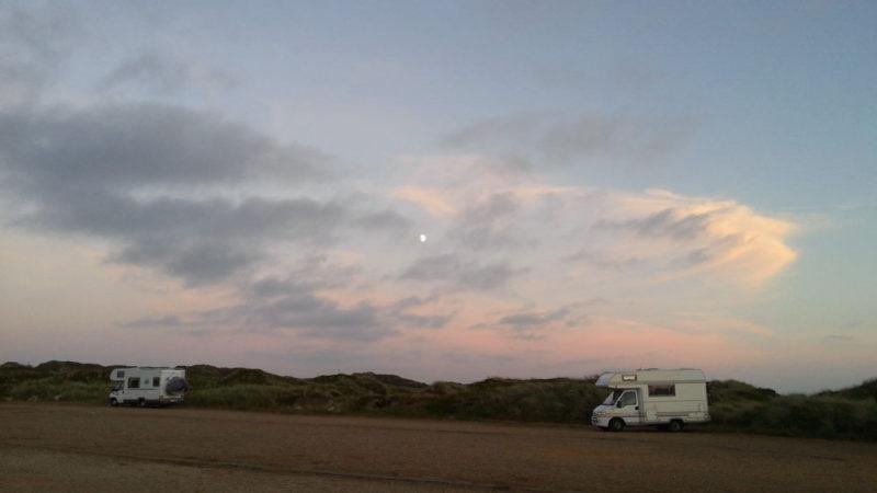 camper van sundown