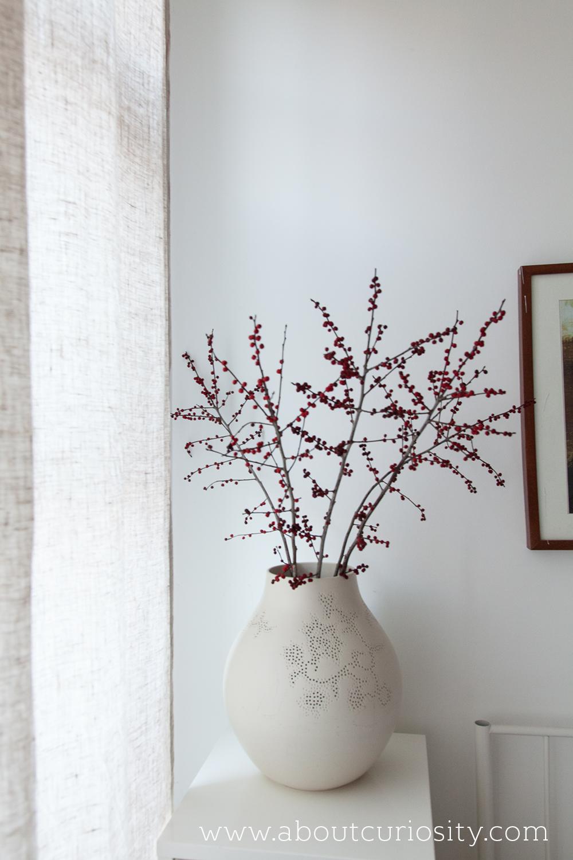 berries in ikea vase