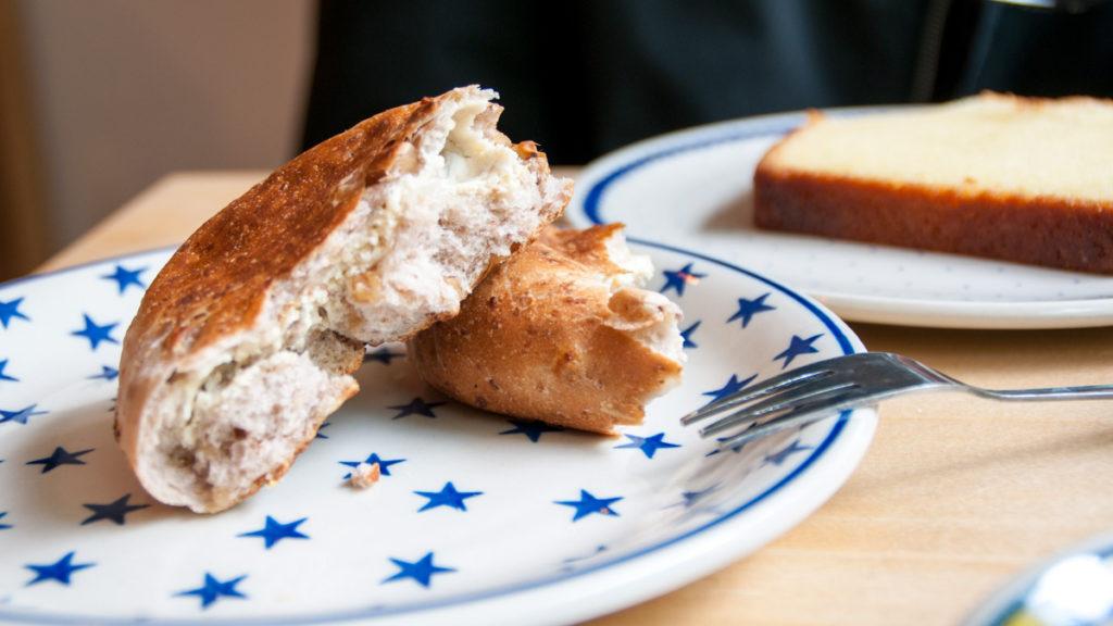 walnut and fig cream roll