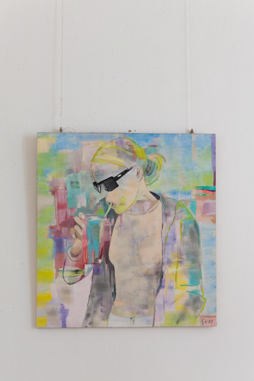 Painting by Gunilla Weinraub of her daughter Yael