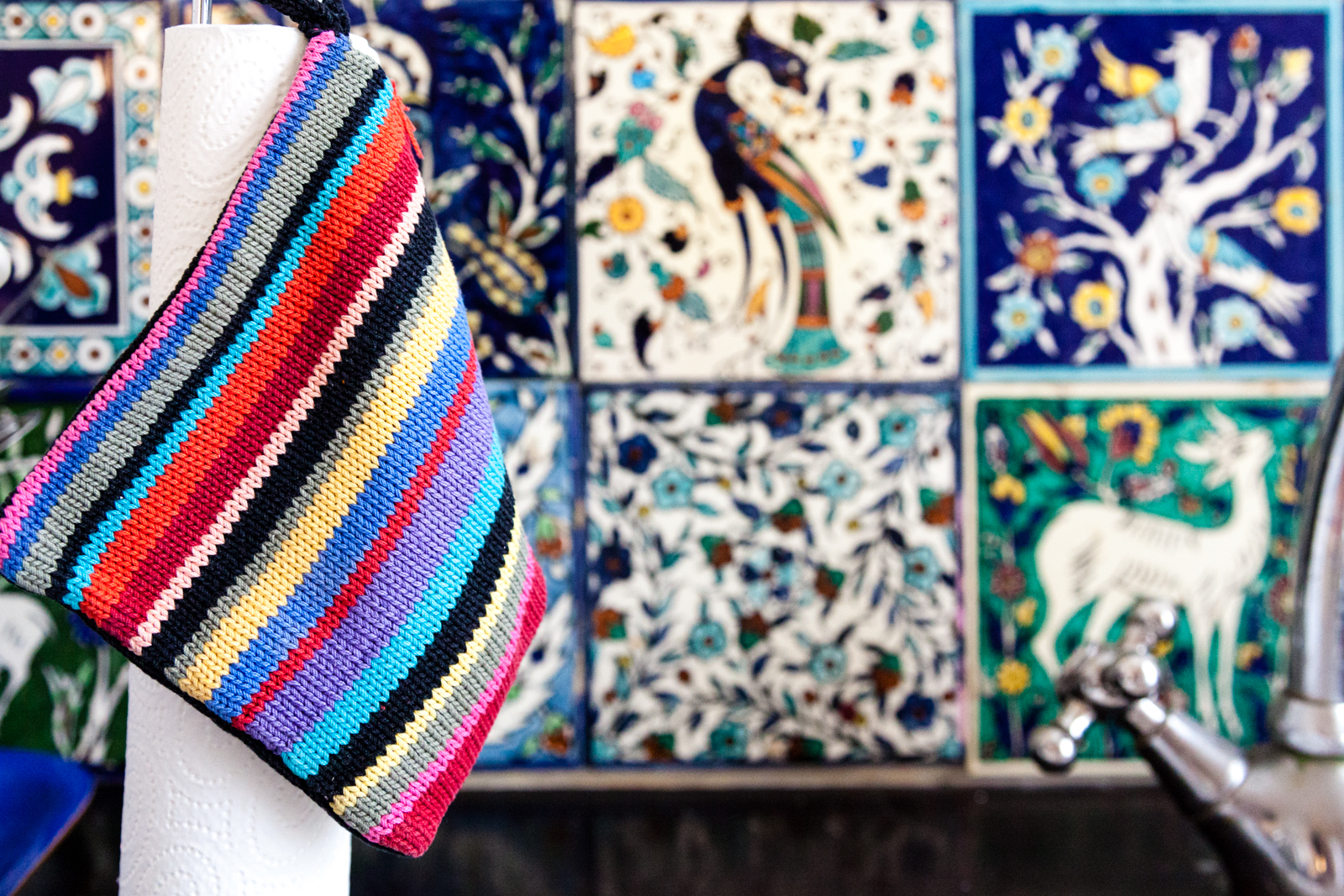Tiles and Knitting Wear from Gunilla Weinraub