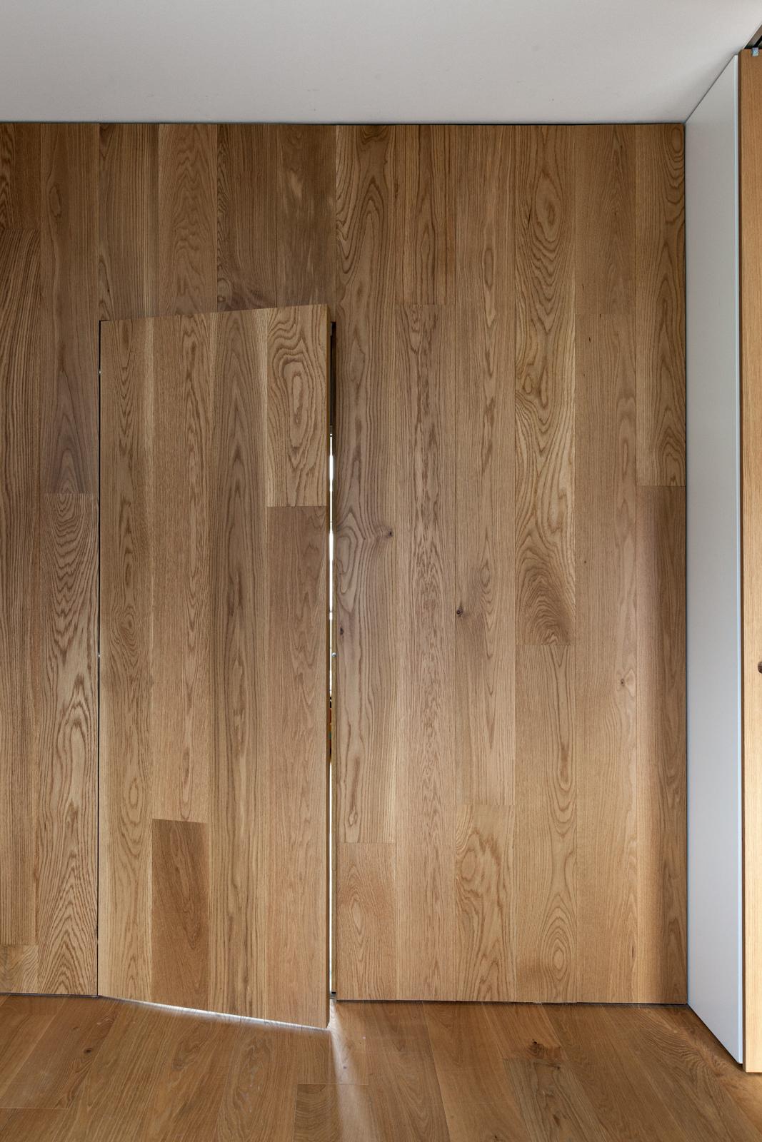 Wooden Panel Door Interior by Luca Lancini